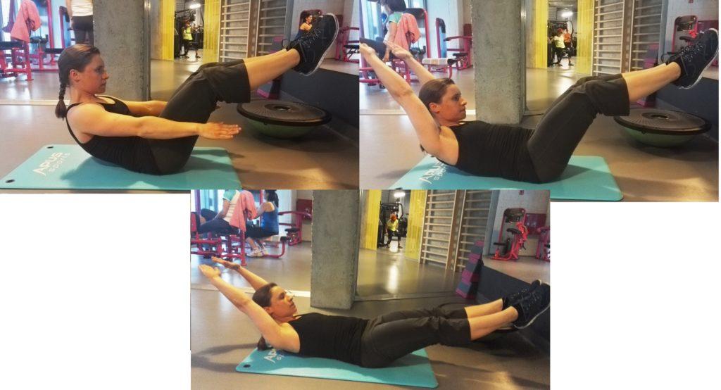 trening mięśni brzucha hollow body