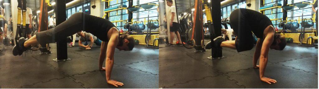 trening mięśni brzucha TRX crunch